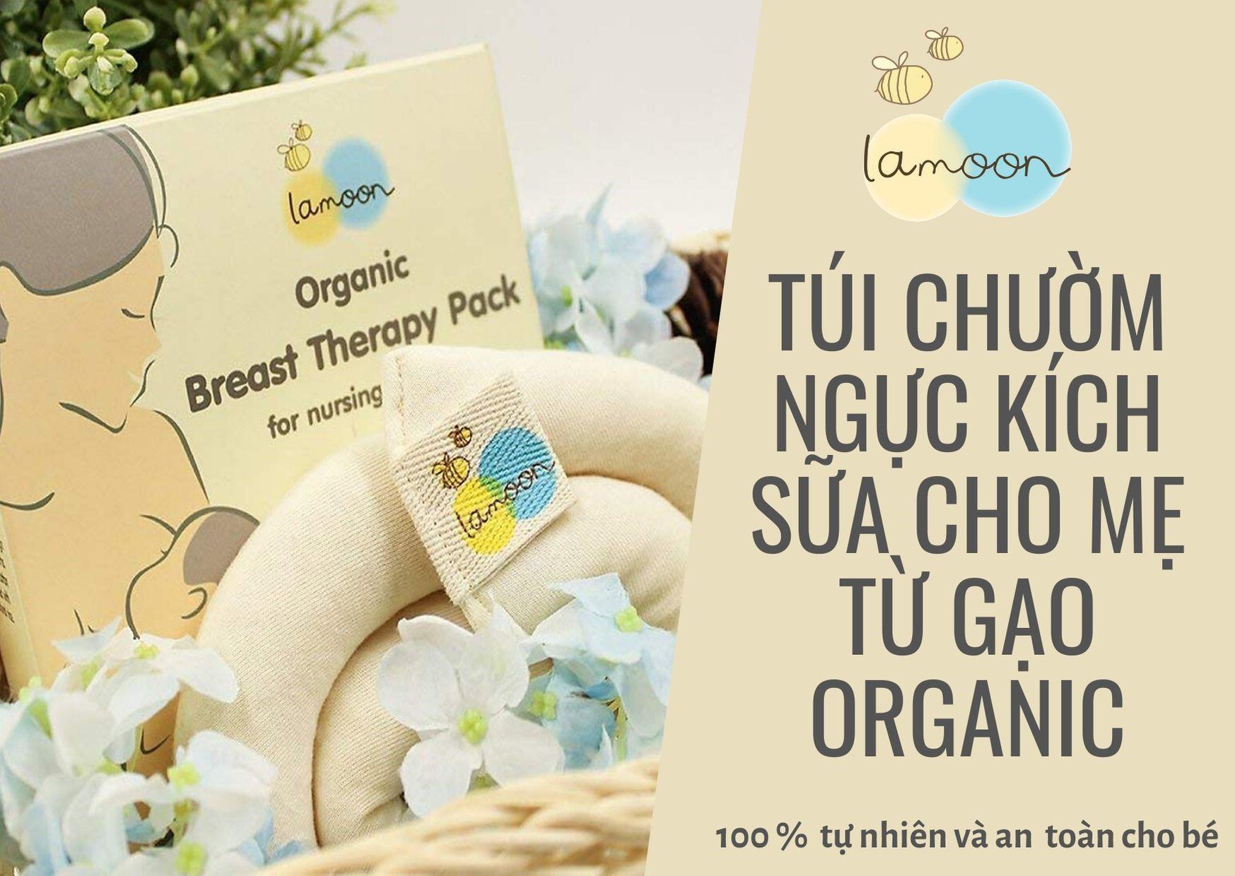 Túi chườm ngực kích sữa cho mẹ từ Gạo Organic