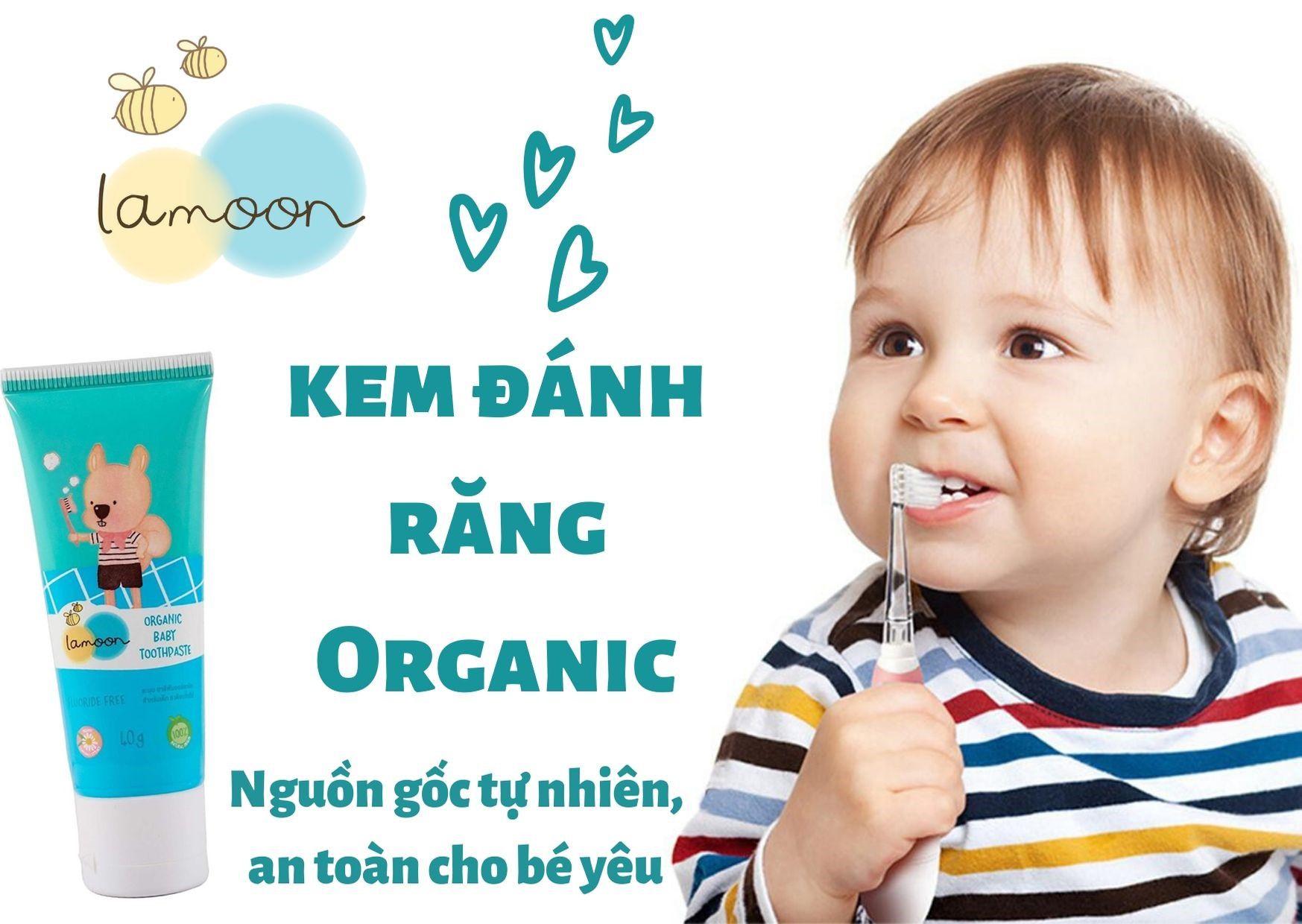 Kem Đánh Răng Organic cho bé Lamoon - 40g
