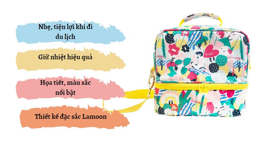 Đặc điểm túi giữ nhiệt cho bé Lamoon x Kloset - Feline