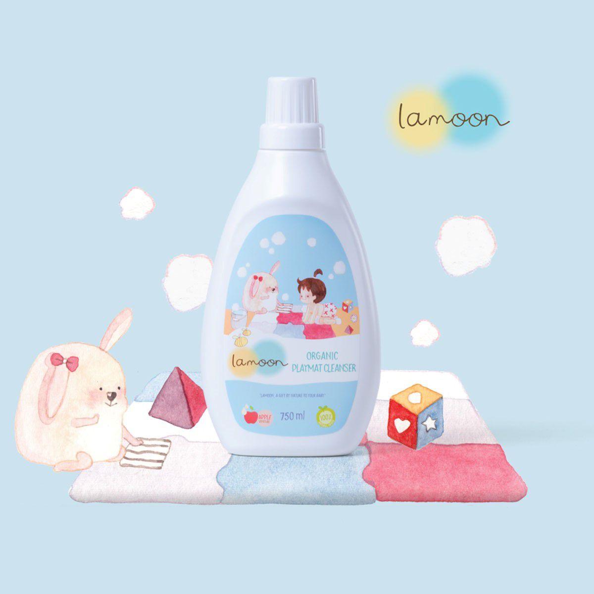Nước lau thảm Organic cho bé Lamoon - Bình 750ml